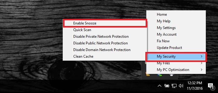 How To Enable Snooze In The Total Defense Security Center – What can